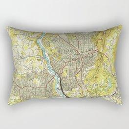 Vintage Map of Asheville North Carolina (1943) Rectangular Pillow