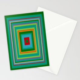 """""""Pop Ring Green""""   Op art Stationery Cards"""