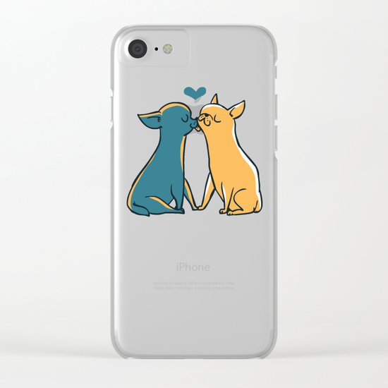 Chihuahua Kisses Clear iPhone Case