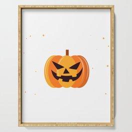 Scary Pumpkin Happy Halloween Serving Tray