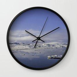 Glacial Lagoon 01 Wall Clock
