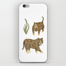 Jungle Tigers light by Veronique de Jong iPhone Skin