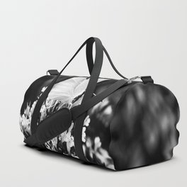 Black And White Butterfly Duffle Bag