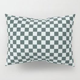 Checkerboard Pattern Inspired By Night Watch PPG1145-7 & Cave Pearl PPG1145-3 Pillow Sham