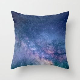 Milky Way Stars (Starry Night Sky) Throw Pillow