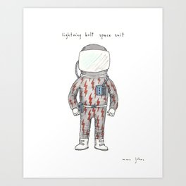 lightning bolt space suit Art Print