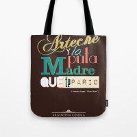 argentina Tote Bags featuring Argentina Cinema by Estudio Minga | www.estudiominga.com