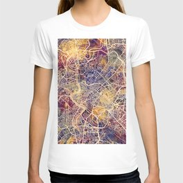 Rome Italy City Map T-shirt