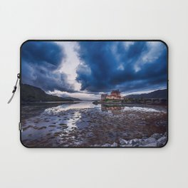 Dark Skies at Eilean Donan Castle Laptop Sleeve