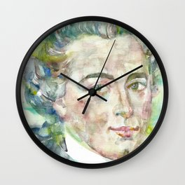 IMMANUEL KANT - watercolor portrait Wall Clock