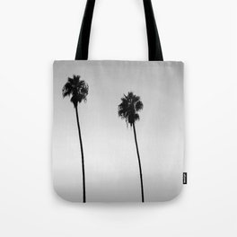 Black and White San Diego Palms - California Tote Bag
