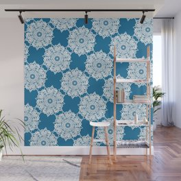 Gorgeous Lace Snow Pattern Wall Mural