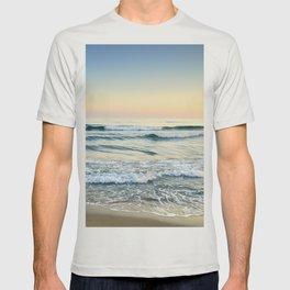 Serenity sea. Vintage. Square format T-shirt