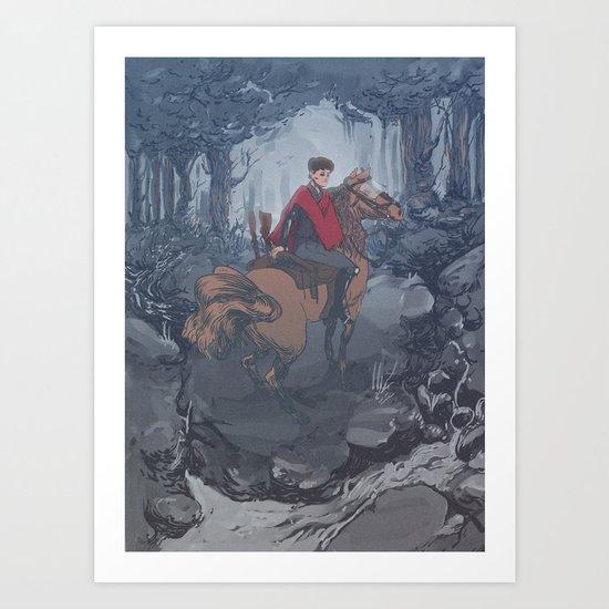 Riot Horse Art Print