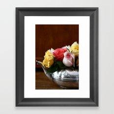 Rose Tea II Framed Art Print