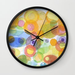 Vividly interacting Circles Ovals and Free Shapes Wall Clock