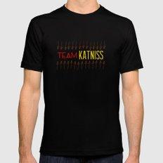 Team Katniss Mens Fitted Tee Black MEDIUM