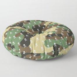 SKULLS PATTERN - CAMO & WHITE - LARGE Floor Pillow