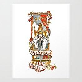 Henry IV Shakespeare Illustration Art Print