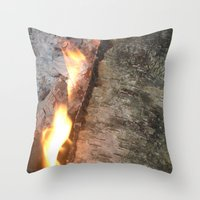 swedish Throw Pillows featuring Swedish fire by ilsephilips