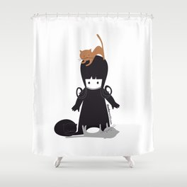 Theda & the Kats Shower Curtain