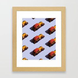 Wooden cars Framed Art Print