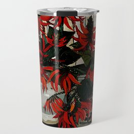 """Coral Flowers"" by Australian Artist Margaret Preston Travel Mug"