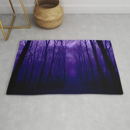 Deep Purple Forest Rug