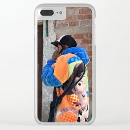 Woody Coat Clear iPhone Case