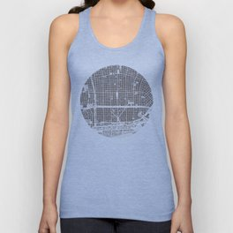 Buenos aires city map engraving Unisex Tank Top