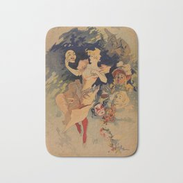 Comedy Theater 1900 by Jules Chéret Bath Mat