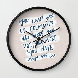 creativity quote Wall Clock