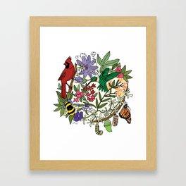 Pollinator's Garden Framed Art Print