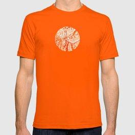 orange brushstroke T-shirt