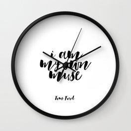 Fashion Wall Art Tom Ford Quotes Tom Ford Art Tom Ford Prints Women Gift Boss Lady Printable Art Wall Clock