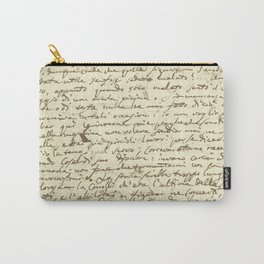 Original Paganini letter Carry-All Pouch