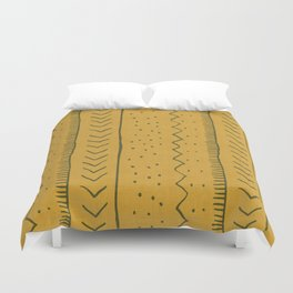 Moroccan Stripe in Mustard Yellow Duvet Cover