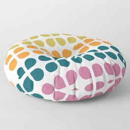 Retro '70s Geometric Leaves Floor Pillow