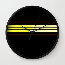 Team Colors 5 ...Yellow , orange Wall Clock