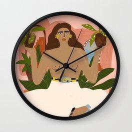 Crazy Plant Lady II Wall Clock