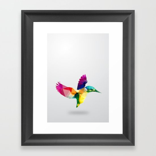 Bird. Glass animal series Framed Art Print