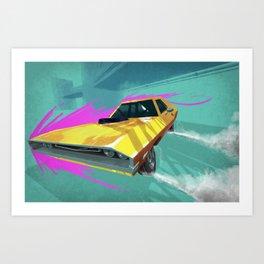 1970 Dodge Challenger Drift Art Print