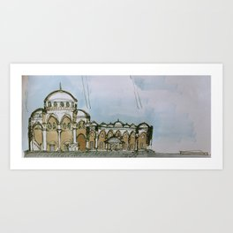 architectural section Art Print