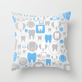 Tooth a background Throw Pillow