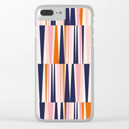 Beaching Pattern Clear iPhone Case