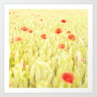 poppies Art Prints featuring Poppies by Falko Follert Art-FF77