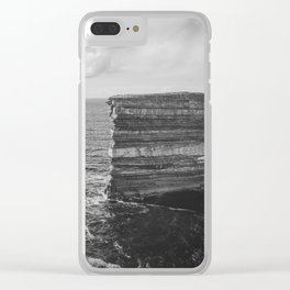 Dun Briste II Black and White Clear iPhone Case