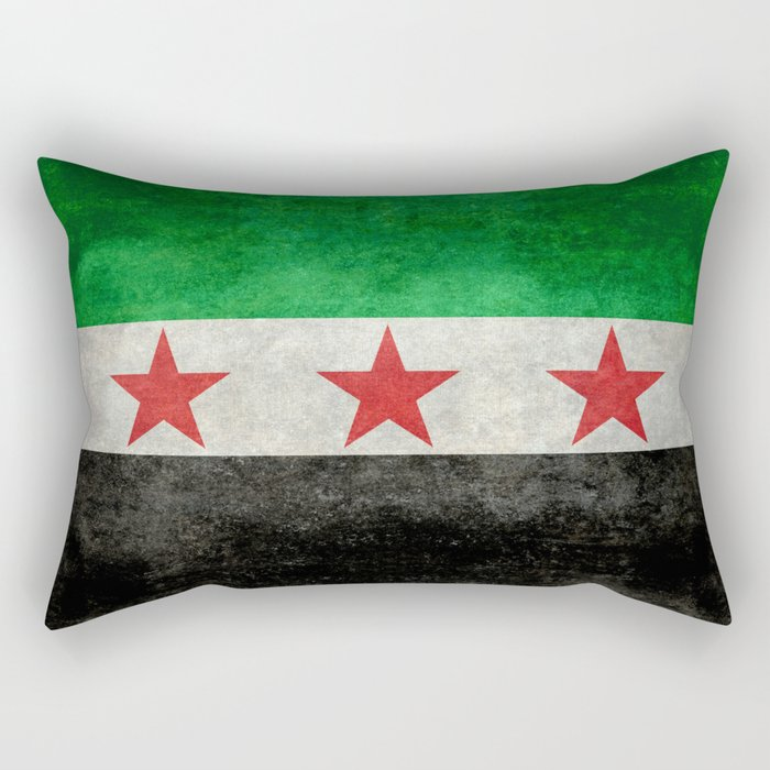 Syrian independence flag, vintage style Rectangular Pillow