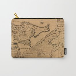 Map of Louisbourg 1757 Carry-All Pouch