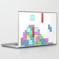 tetris Laptop & iPad Skins featuring Tetris by #dancingpenguin
